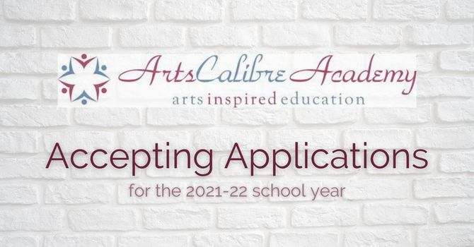 Arts Calibre Academy Accepting Applications image