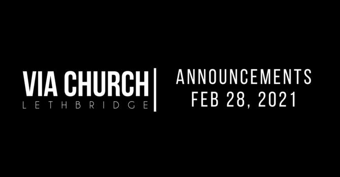 Announcements - Feb 28, 2021 image