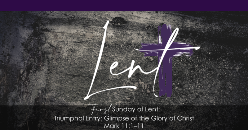 Triumphant Entry: Glimpse of the Glory of Christ