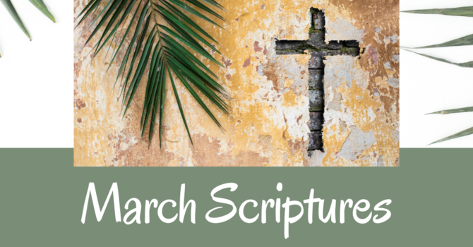 Scriptures for March image