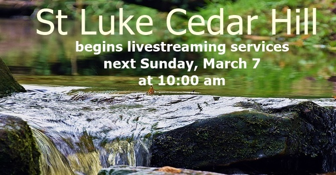 Livestream Services To Start Sunday, March 7th