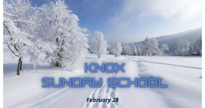 Knox Sunday School