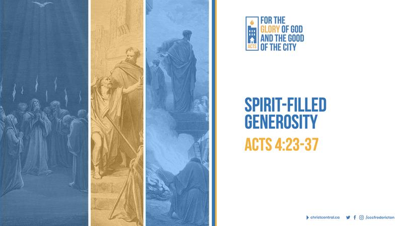 Spirit-Filled Generosity