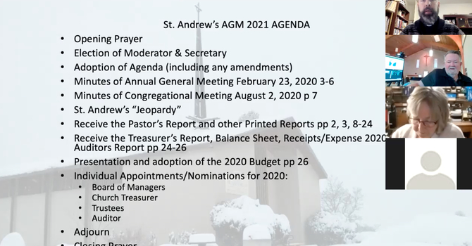 St. Andrew's Family Meeting/Annual General Meeting