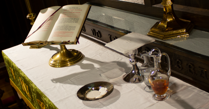 Rector's Corner on the Holy Eucharist, week 1 image