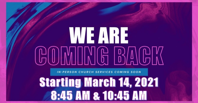 In Person Services Start Back This Month image