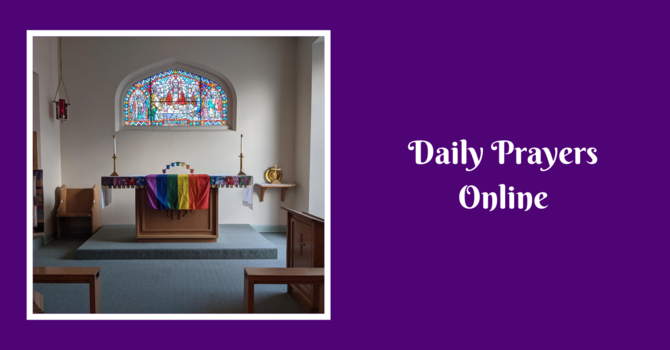 Daily Prayers for Monday, March 1, 2021 - edit with video added image