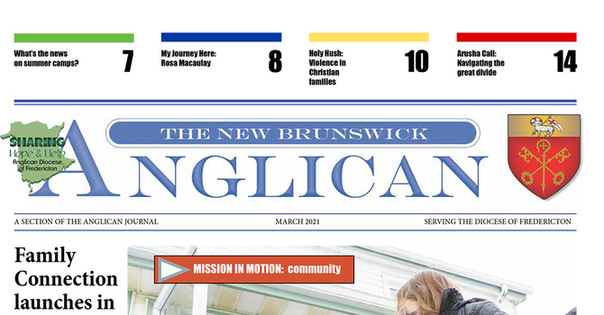 March edition of the NB Anglican image