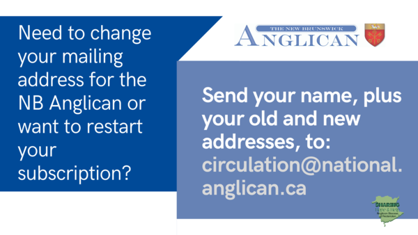 NB Anglican subscription issues?