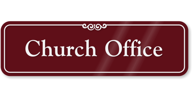 Church Office is Open  image