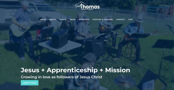 St. Thomas', Sherwood Park Launches New Website