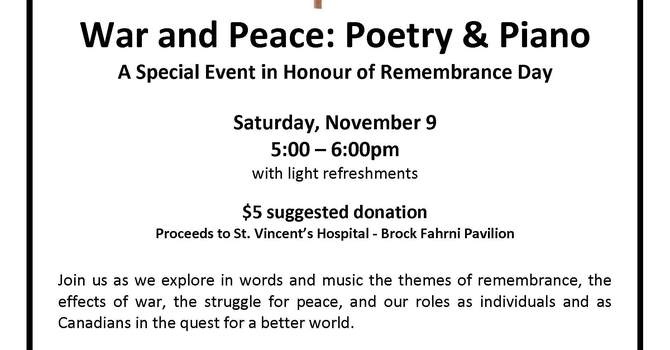 Remembrance Day Poetry and Piano image