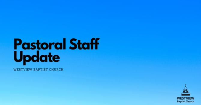 Pastoral Staff Update image