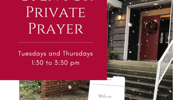 Open for Private Prayer