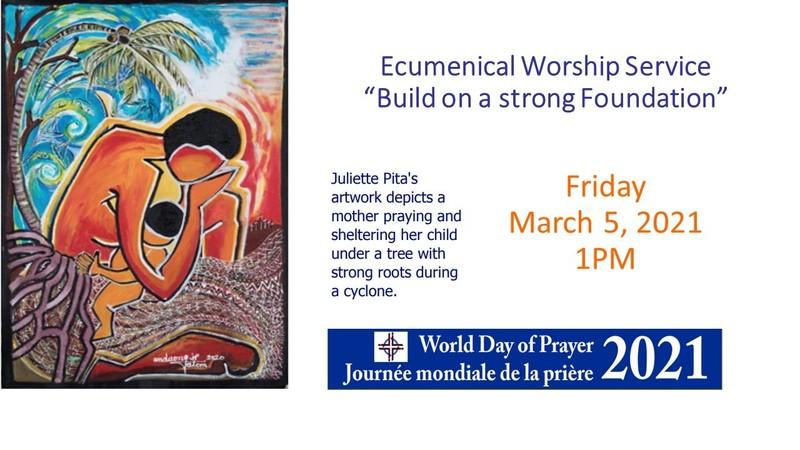 World Day of Prayer 2021 Ecumenical Worship Service