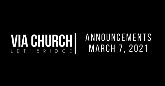 Announcements - Mar 7, 2021 image