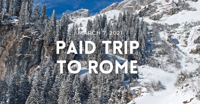 Paid Trip to Rome