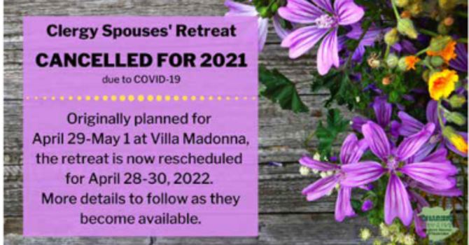 Clergy Spouses Retreat