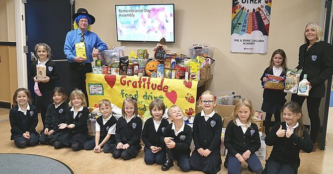 Gratitude Food Drive has remarkable results! image