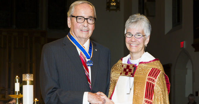 Philip Owen, C.M., ODNW, Awarded Honorary Degree by VST image