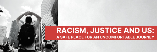 Racism Justice and Us · Begins Wed, April 7 · 10AM