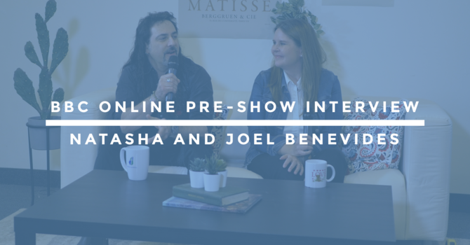 BBC Online Pre-Show Interview | Natasha and Joel Benevides image