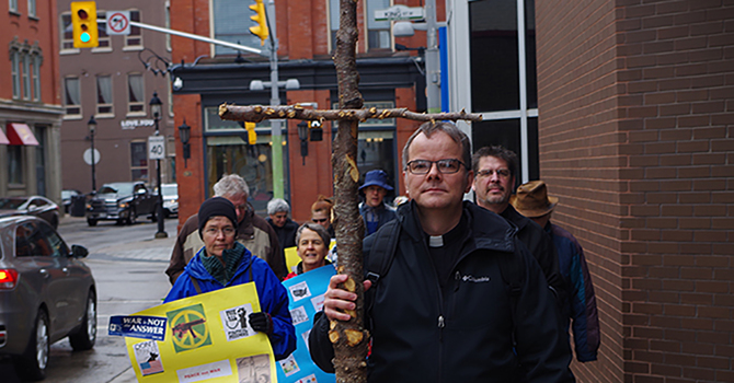 Stations of the Cross in downtown Kitchener