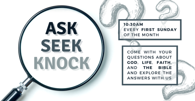 ASK | SEEK | KNOCK image