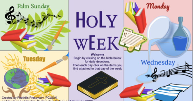 Holy Week Children's Activities image