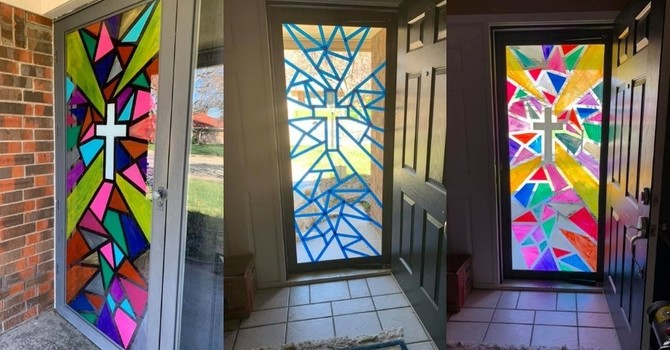 Easter Stained Glass door