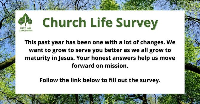 Church Life Survey! image