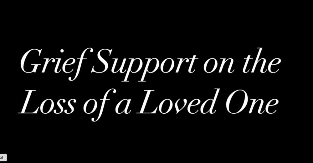 Grief Support Seminar