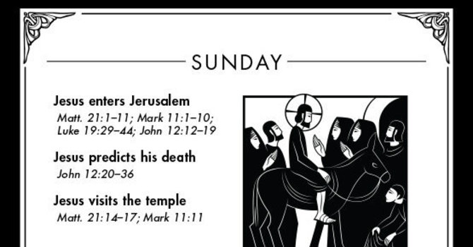Holy Week: Palm Sunday (March 29, AD 33) image