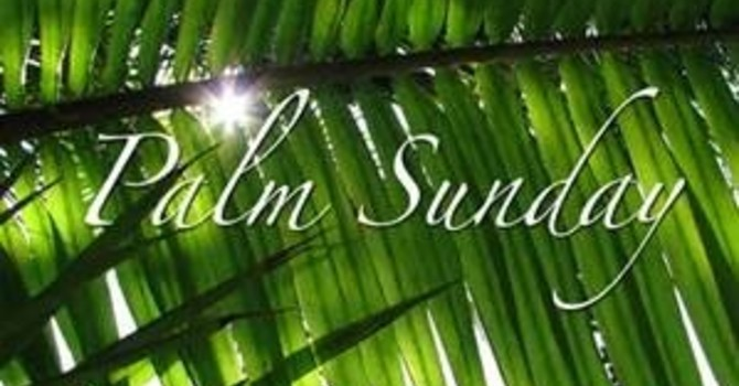 Service Sheet for Palm Sunday March 28th and News image