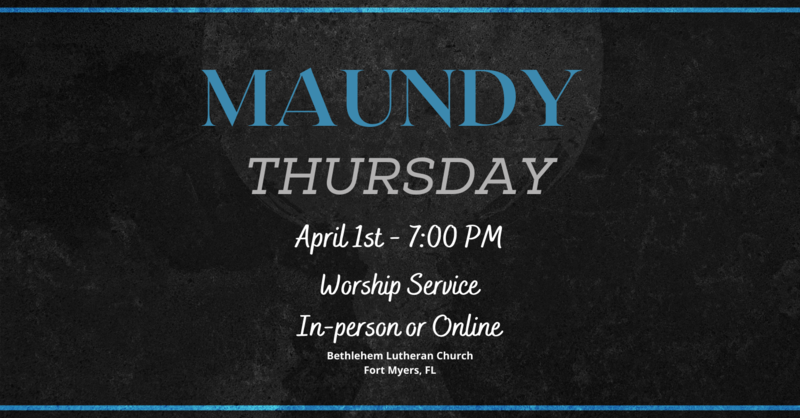 Maundy Thursday, April 1, 2021 | Full Service
