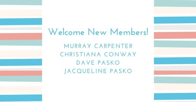 Welcome New Members! image
