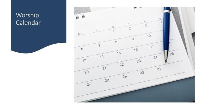 April Worship Calendar image