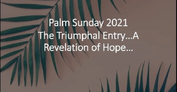 """The Triumphal Entry - A Revelation of Hope"""