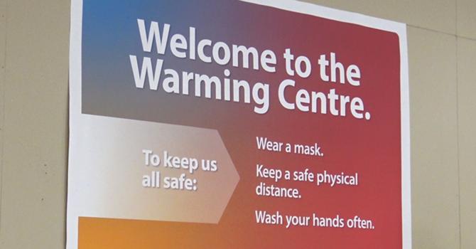 Bishop Michael visits the Brockville Warming Centre image