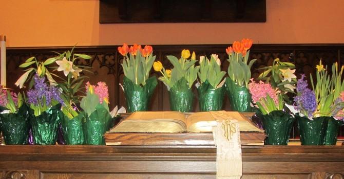 Easter Memorial Flowers 2021 image