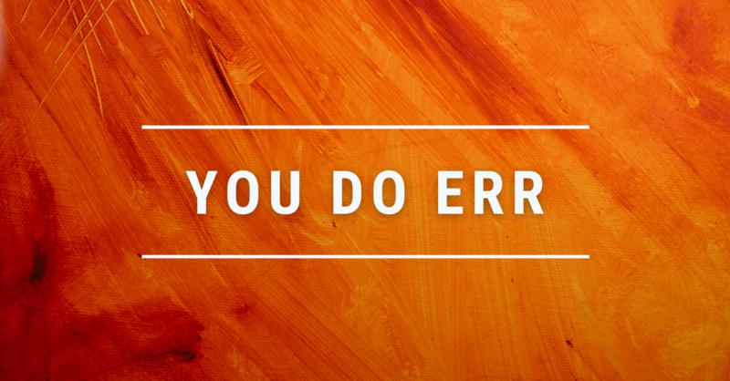 You Do Err