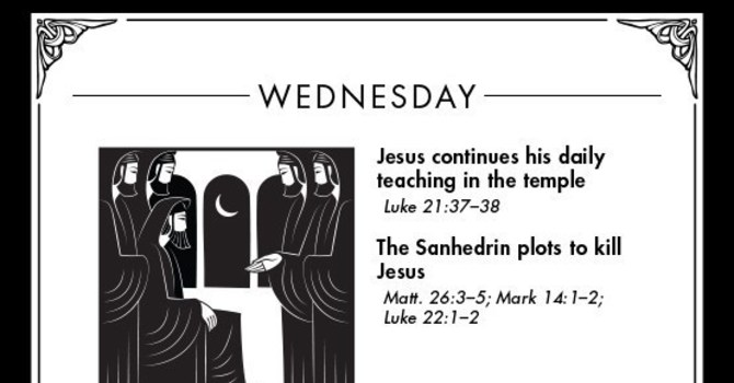 Holy Week: Wednesday (April 1, AD 33) image