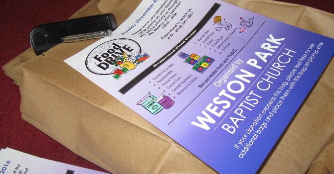 Weston Park Food Drive begins... image