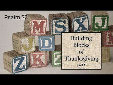 The Building Blocks of Thanksgiving