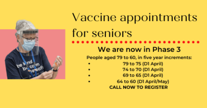 VACCINE APPOINTMENTS FOR SENIORS image