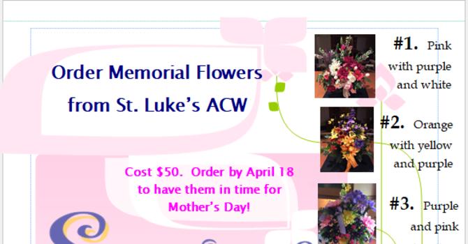 St. Luke's ACW Memorial Flower Arrangements image