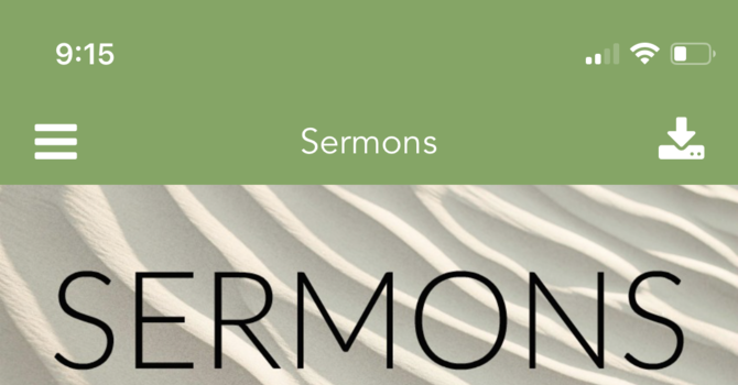 Listen to Sermons with Our App image