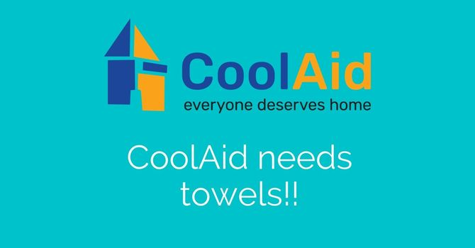 CoolAid Society needs towels! image