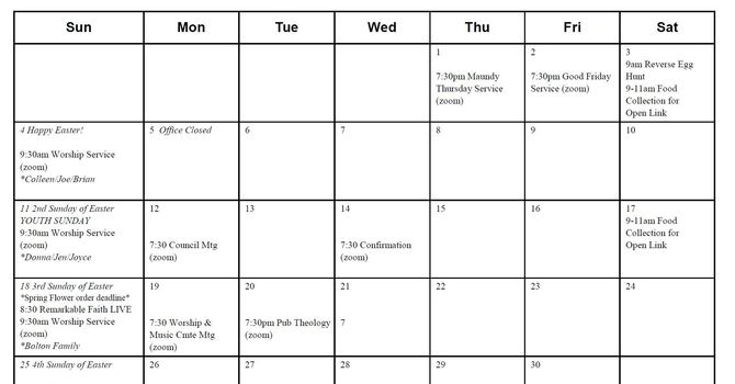 Printable Calendar for the Month Available image