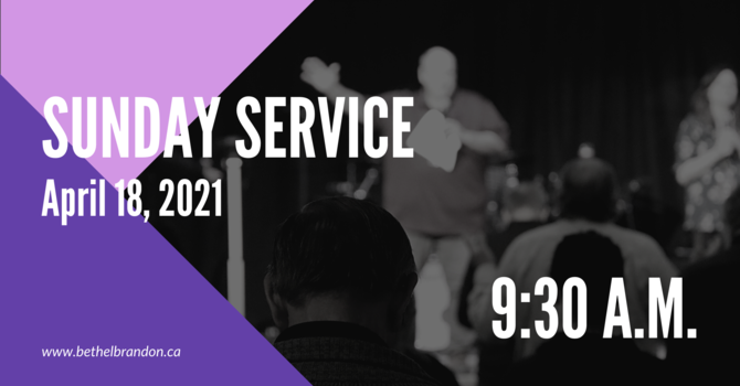 Sunday In Person Servicve 9:30 a.m.